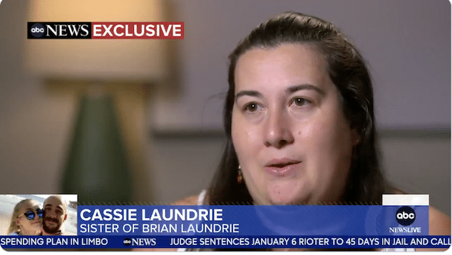 Brian Laundrie sister Cassie Laundrie Good-Morning America GMA interview