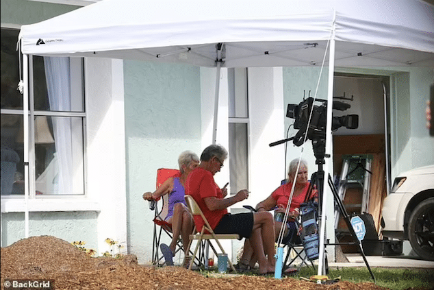 Brian Laundrie neighbors rent out front yard